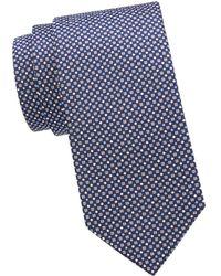 Eton Silk Pattern Tie - Blue