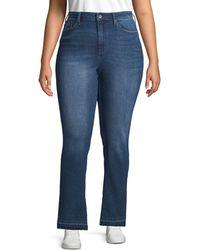 Max Studio Plus Classic High-rise Skinny Jeans - Blue