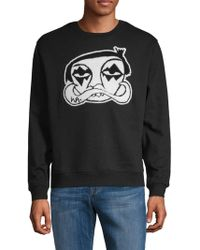 Haculla Les Crew Graphic Sweater - Black