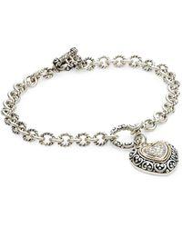 Effy Sterling Silver, 18k Gold & Diamond Toggle Bracelet - Metallic