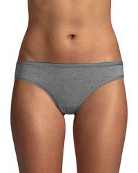 Ava & Aiden Low-rise Bikini Briefs - Gray