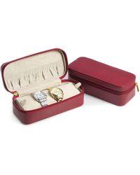 Bey-berk Leather Zippered Watch Case - Multicolour