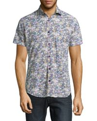 Jared Lang - Mens Short-sleeve Cotton Button Down - Lyst