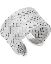 Roberto Coin - Silver Cuff Bracelet - Lyst