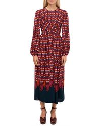 Kate Spade Wild-print Midi Dress - Red