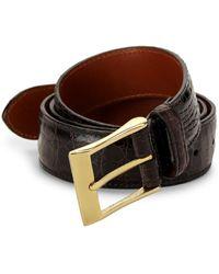 Saks Fifth Avenue Crocodile Leather Belt - Brown