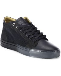 Android Homme - Margom Nubuck Caviar Mid-top Trainers - Lyst