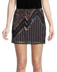 Parker Corsica Beaded Mini Skirt - Black