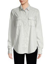 Free People Bandana Bandit Paisley Button-down Shirt - White