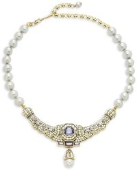 Heidi Daus Women's Goldtone & Crystal, Multicolor Rhinestones & Glass Beads Necklace - Metallic