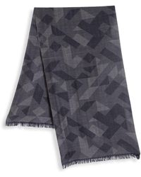 Saks Fifth Avenue - Collection By Johnstons Printed Merino Wool Frayed Scarf - Lyst