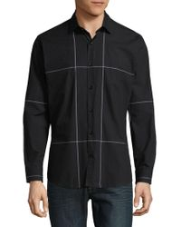 Jared Lang - Windowpane Cotton Button-down Shirt - Lyst