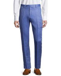 Tommy Hilfiger Men's Slim-fit Linen Suit Separates Trousers - Light Blue - Size 38 30