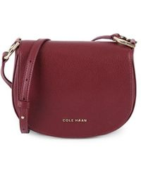 Cole Haan Women's Leather Crossbody Saddle Bag - Tawny Port - Red
