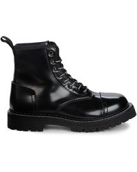 KENZO Leather High Top Boots - Black
