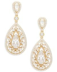 Adriana Orsini Women's Goldtone & Crystal Drop Earrings - Metallic