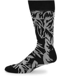 Bugatchi - Two-tone Mid-calf Socks - Lyst