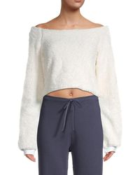 Hard Tail Teddy Cropped Sweatshirt - Multicolour