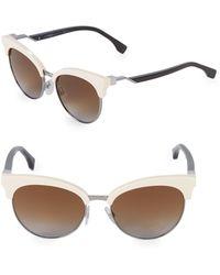 Fendi 55mm Butterfly Sunglasses - Multicolour
