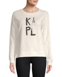 Karl Lagerfeld - Embellished Logo Crewneck - Lyst