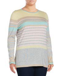 Basler - Striped Silk & Cashmere-blend Pullover - Lyst