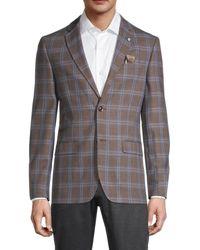 Ben Sherman Standard-fit Overcheck Sportcoat - Brown