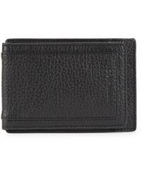 Cole Haan Men's Milled Grain Leather Bi-fold Wallet - Chocolate - Brown