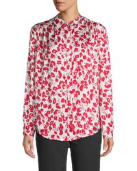 Equipment Nerine Floral Shirt - Red