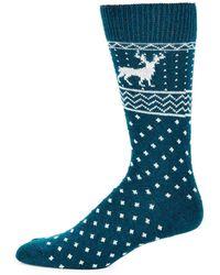 Saks Fifth Avenue - Reindeer Crew Socks - Lyst
