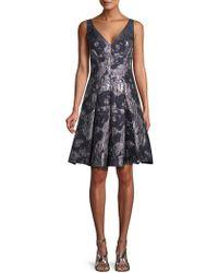 Aidan Mattox - Jacquard A-line Dress - Lyst