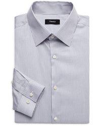 Theory Striped Slim-fit Dress Shirt - Blue