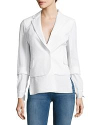 Akris - Stella Embossed Textured Jacket - Lyst