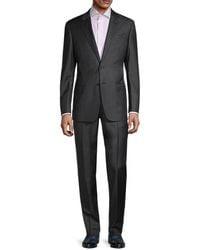 Armani Standard-fit Virgin Wool Suit - Grey