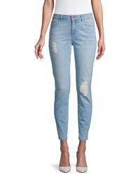 Siwy Women's Lauren Destructed Skinny Ankle Jeans - Light Blue - Size 23 (00)