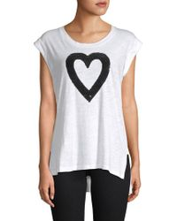 Kenneth Cole - Embellished Heart Tank Top - Lyst