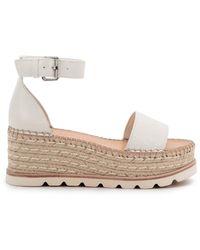 Dolce Vita Women's Larita Jute Flatform Sandals - Cheetah Calf - Size 10 - Multicolour