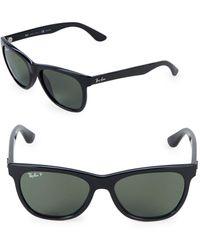 Ray-Ban 54mm Polarized Wayfarer Sunglasses - Black