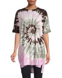 Electric and Rose Sydney Tie-dye Long T-shirt - Pink
