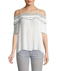 Endless Rose Off-the-shoulder Pleated Top - White