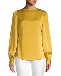 Kate Spade Twist Back Blouse - Yellow
