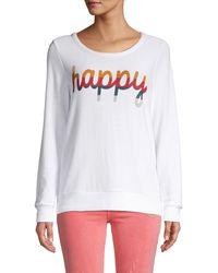 Chaser Graphic Long-sleeve Sweatshirt - White