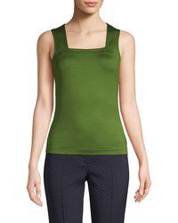 Akris Punto Stretch Cotton Knit Top - Green