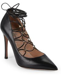 Valentino - Rockstud Gladiator Court Shoes - Lyst