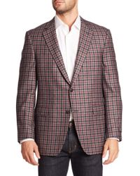 Saks Fifth Avenue Samuelsohn Classic-fit Plaid Wool & Cashmere Sportcoat - Gray