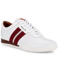 Bally - Frenz Perforated Leather Sneakers - Lyst