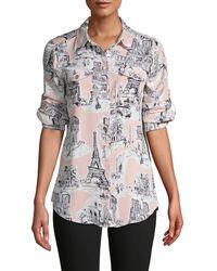 Karl Lagerfeld Printed Long-sleeve Shirt - Multicolor