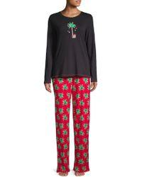 Hue - Two-piece Candy Palm Knit Pyjama Set - Lyst