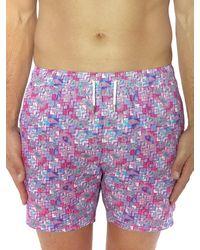 Bertigo Graphic Print Swim Shorts - Pink
