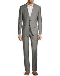 BOSS by Hugo Boss Men's Classic-fit Genius Wool Suit - Gray - Size 40 R