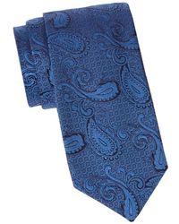 Saks Fifth Avenue Men's Paisley-print Silk Tie - Blue